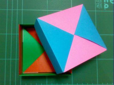 クリスマス 折り紙 折り紙箱折り方長方形 : matome.naver.jp
